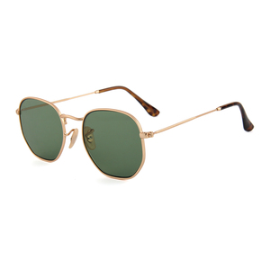 Classical retro fashion sunglasses matte gold frame sunglasses