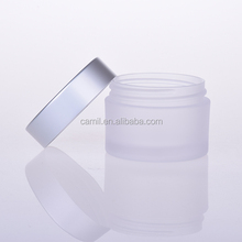 50ml frosted round petg empty plastic fancy cosmetic jars for sale