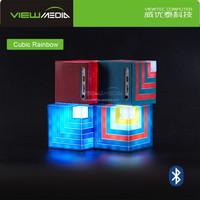 Enjoy music anytime anywhere Cubic Rainbow led bulb Bluetooth speaker car audio