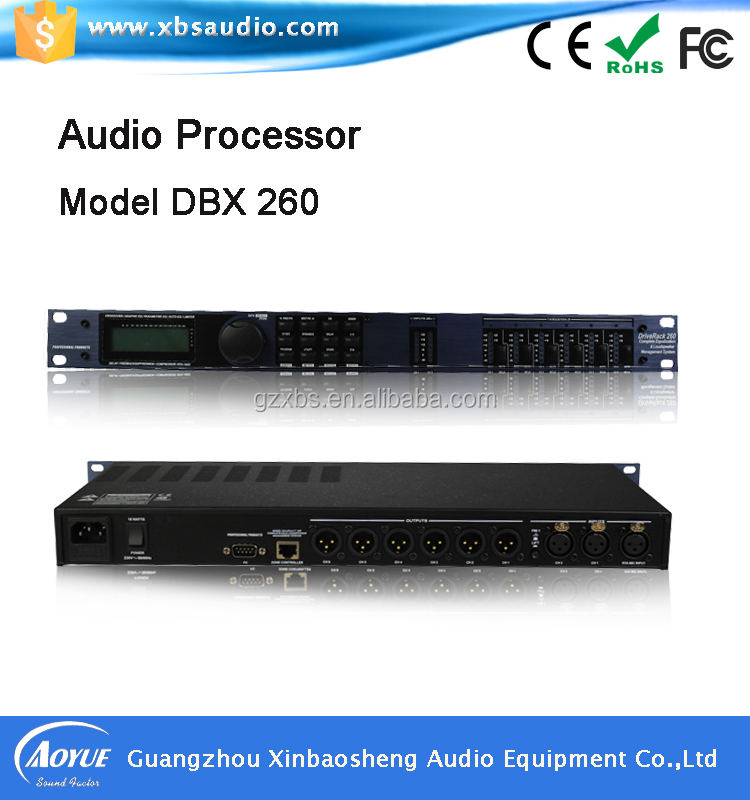DBX driverack 260 DSP Audio speaker digital processor with stable quality