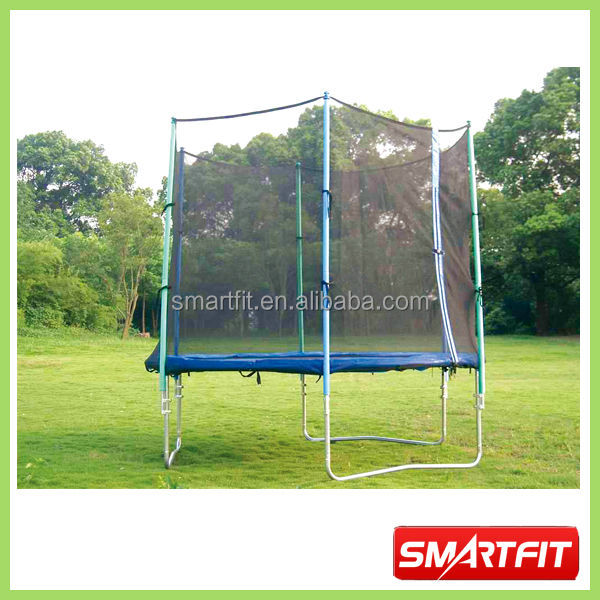 big round trampoline with safety net outdoor fairground used safty trampoline