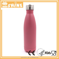 2016 Hot new novelty customized branded logo sport drink double walled stainless steel swell water bottle