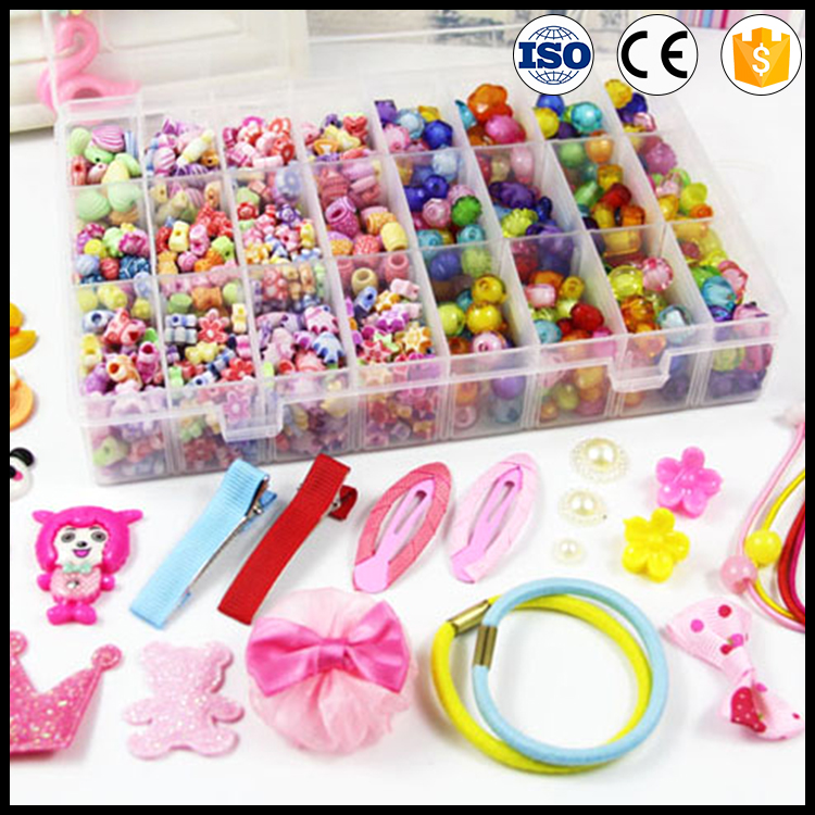 New Arrival Various Acrylic Plastic Beads DIY Beads Set For Children Jewelry Making