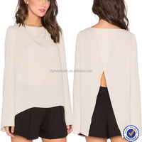 European style new fashion sexy backless women promotion shirt top backless blouse girl for women