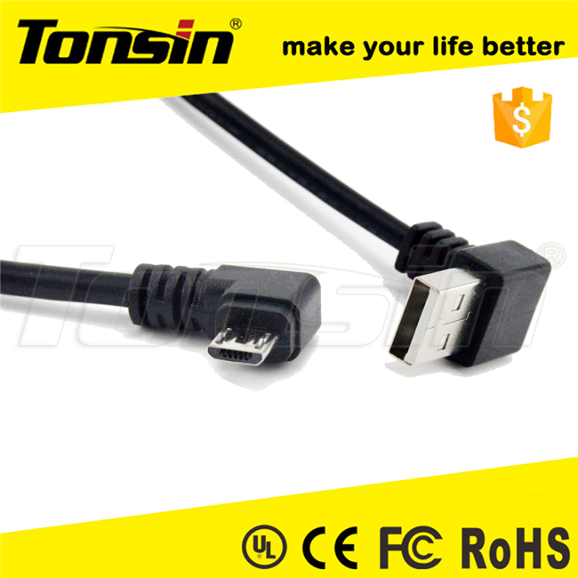 Right Angle micro usb to UP Angle USB A Male Cable