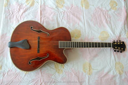 yunzhi fully handmade with solid wood f hole acoustic jazz guitar for sale