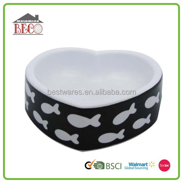 Wholesale cheap special design heart shaped fancy dog bowl