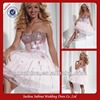 C01270 Bling Bling Crystal Diamond Pink White Sweetheart Cocktail Dresses With Bowknot