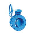 Cast iron/ductile steel body Worm Gear Actuated Eccentric Butterfly valve dn40/dn80/dn200