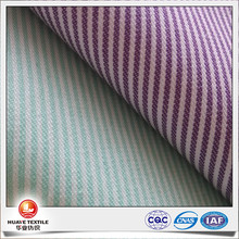 yarn dyed polyester cotton striped oxford fabric for women shirts