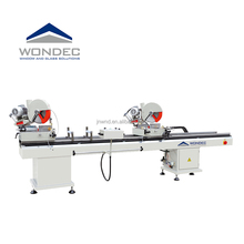 China hot sale Upvc window machinery double head cutting saw machine