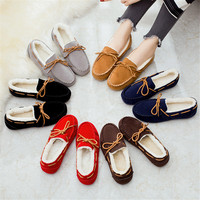 Wholesale China Flat Bottomed Ladies Women Cotton Casual Winter Warm Indoor Shoes