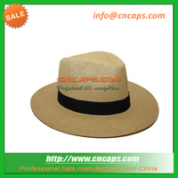 panama straw hat with custom logo for promotion