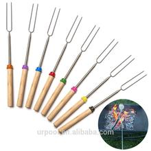 extendable marshmallow roasting fork grill roast thermometer fork extendable bbq forks