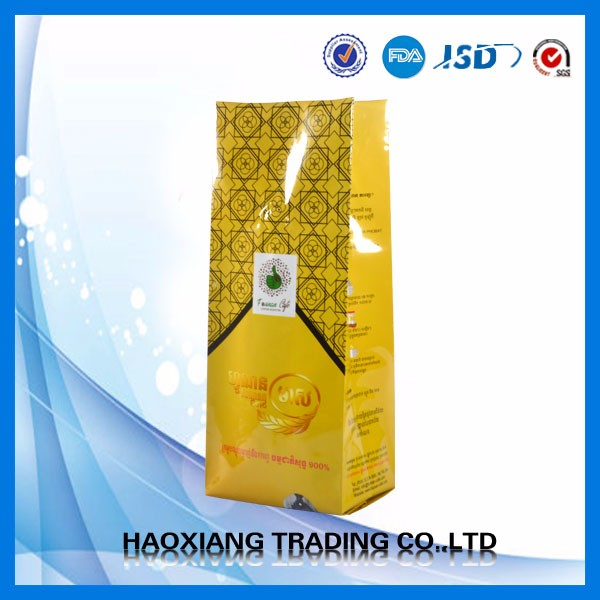Chinese Supplier Packaging Coca Seed Side Gusset Bag