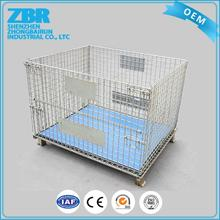 Collapsible wire container/warehouse large storage cage