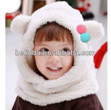 winter animal ears long fur hat