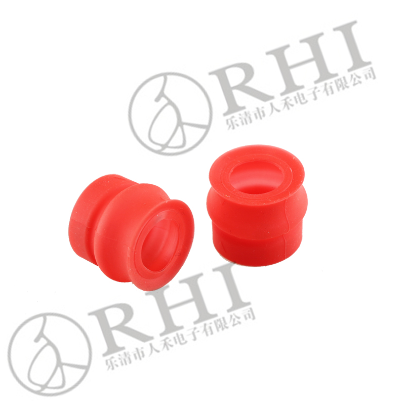 Insulated pvc boot cover, silicon red boot for capacitor switch insulator