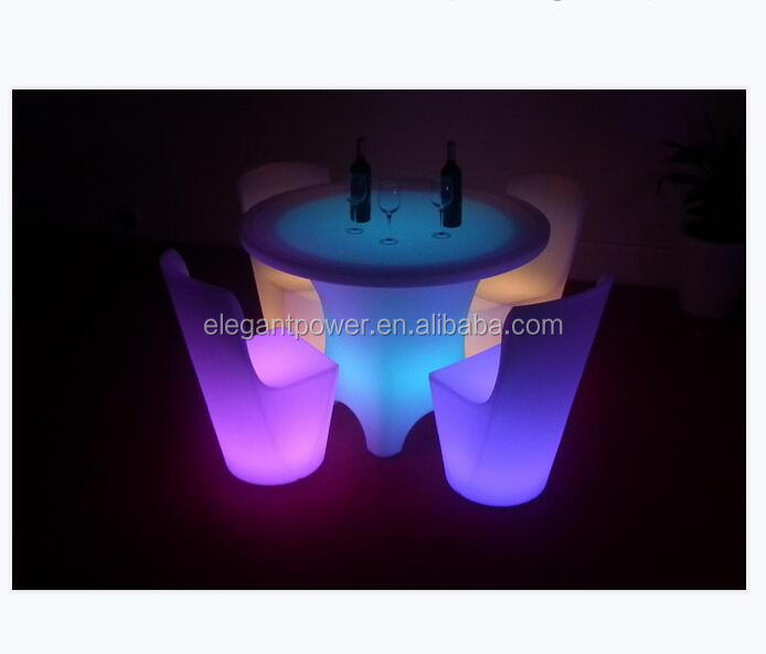 2018 hot selling outdoor commercial high top LED light cocktail bar