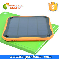 Dual USB portable window adsorption 5600mah fireproof waterproof solar power bank for mobile iphone and ipad