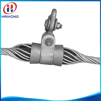 Tangent short span cable suspension clamp