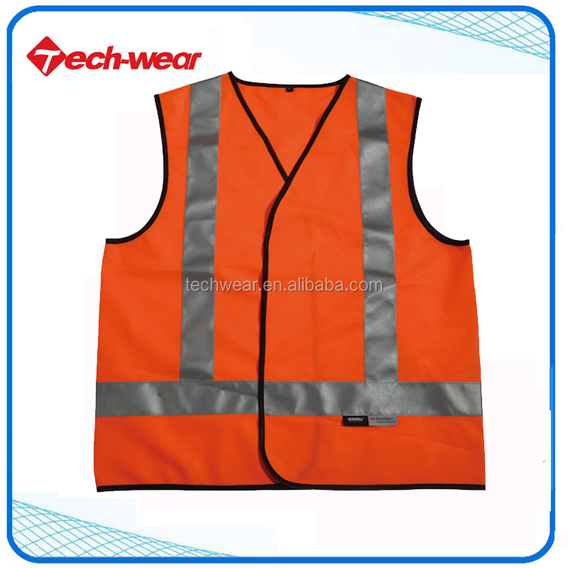 Hivis 100% Tricot material construction safety Vest