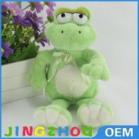 Cartoon green frog stuffed toy,plush frog toy ,big eyes cute plush frog