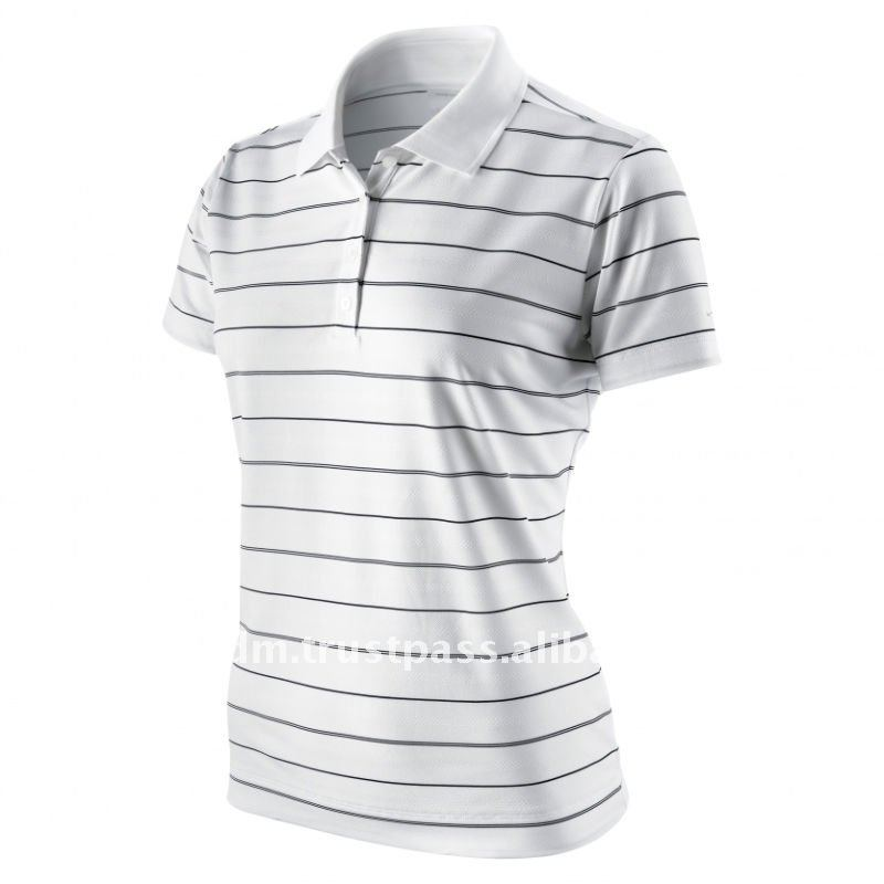 Ladies Stripe Polo Shirt