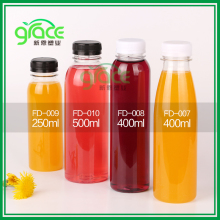 Free sample 250ml 400ml 500ml juice pet plastic beverage bottle