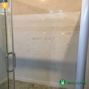 Calacatta White Bathroom Shower Tub Surround, Wholesale Cultured Marble Shower Panel