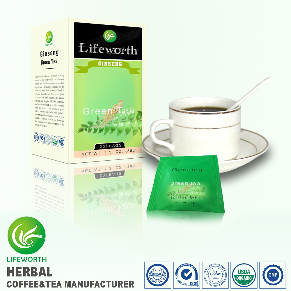lifeworth Best organic green ginseng tea with special nutrition formula