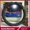 Luxury black car steering wheel cover for Honda, Toyota, Kia