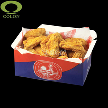 Disposable take away paper fried chicken box food packaging