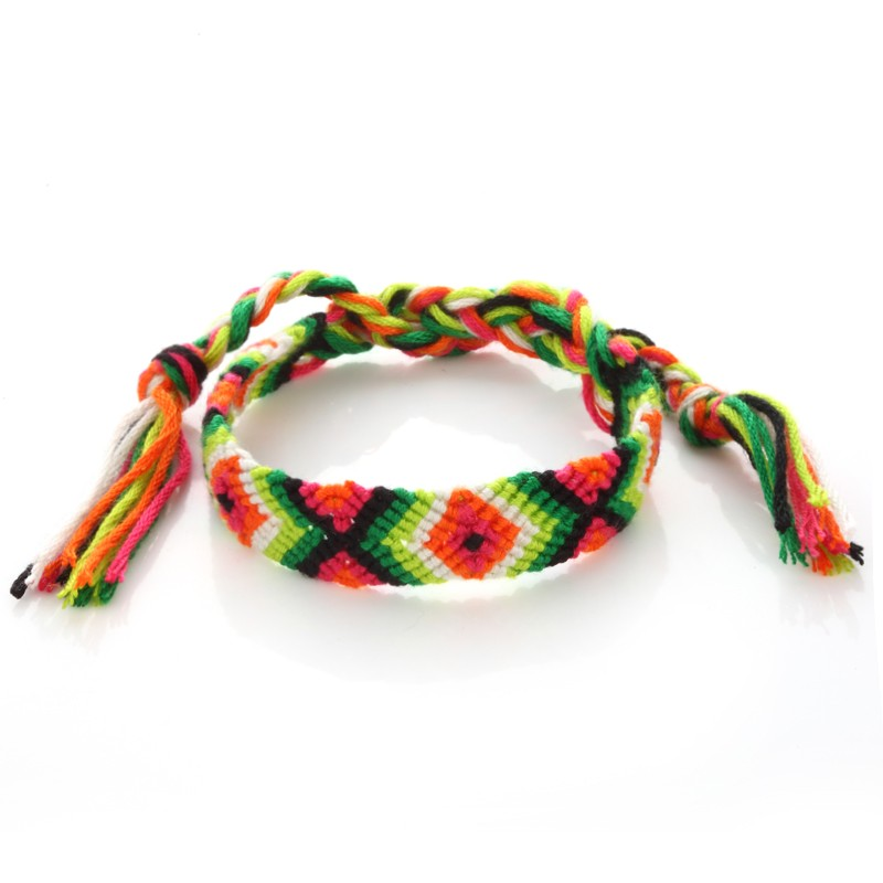 National Jewelry Accessories Colorful  Handmade Rope Woven Thread String bracelets