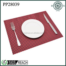 best sell high quality pvc placematsand cheap coasters PVC for drink