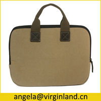 High Quality Protective Padded Custom Canvas 10 inch Tablet Sleeve Bag Wholesale