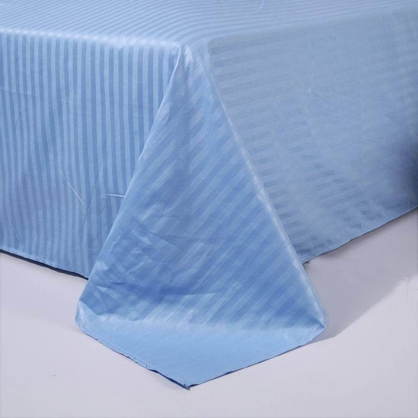 Polyester 50% Cotton 50% 40S*40S stripe and sateen hotel bed sheeting fabric