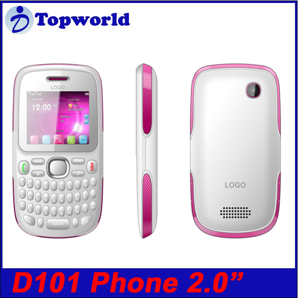 Qwerty Keyboard cell phone D101 2.0 inch Analog TV GPRS/WAP 0.3MP Camera with blutooth FM radio MP3