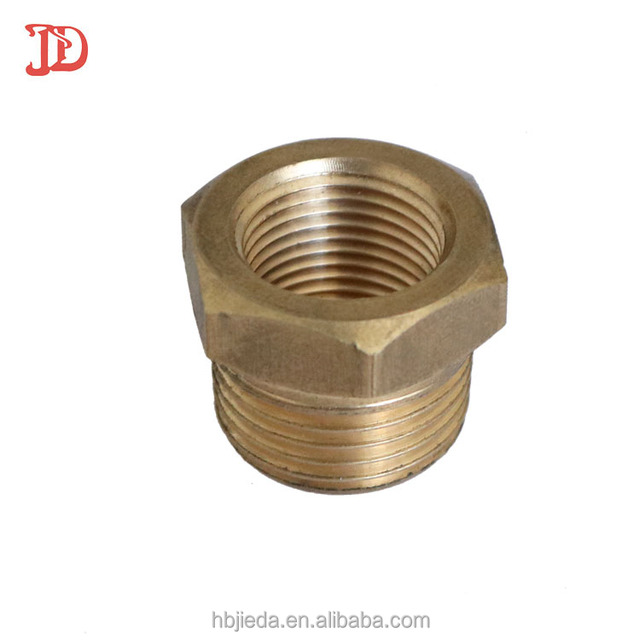 Hebei factory forged Brass hex outer and inner thread hydraulic hose fittings spare