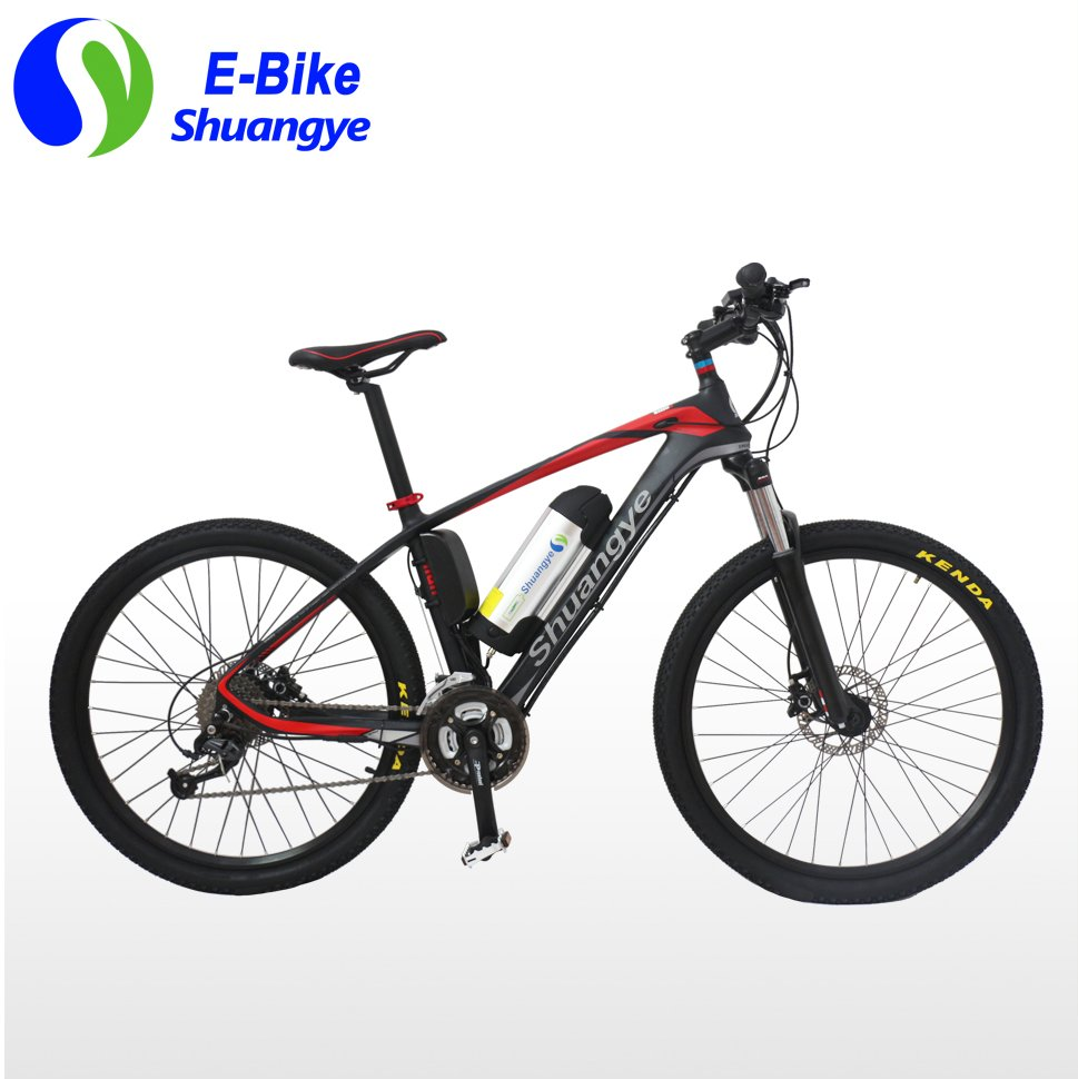 2016 new model carbon fiber frame 26 inch mountain electric bicycle