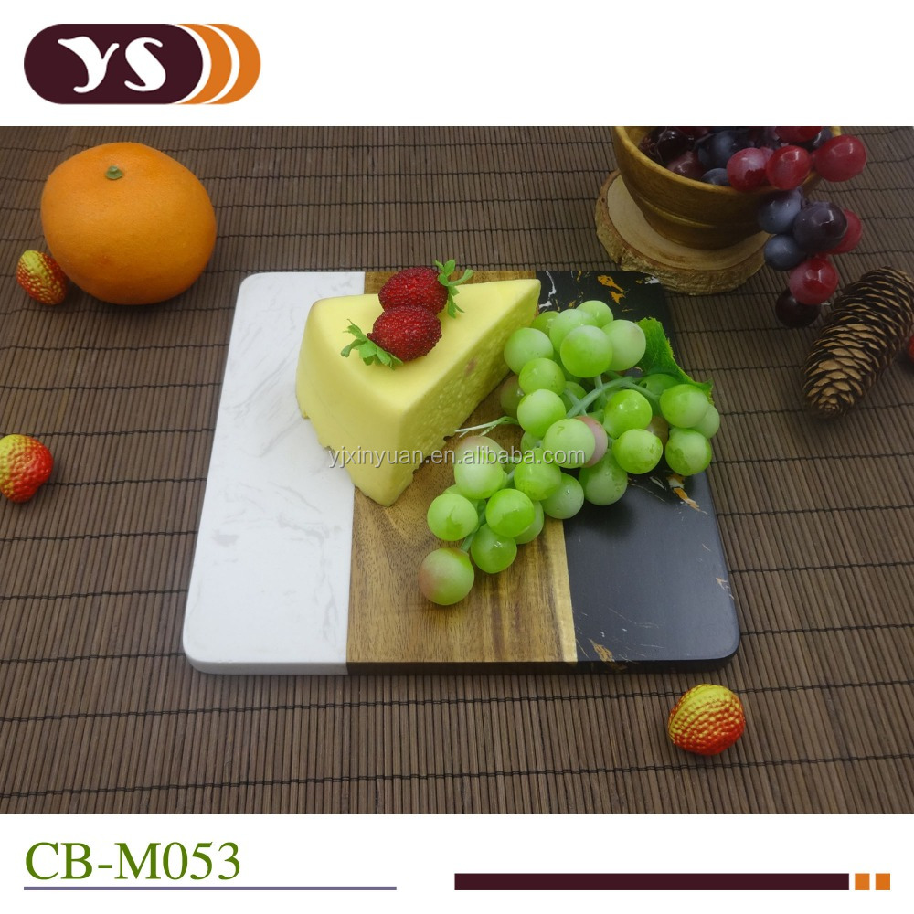 marble stone chopping board environmental marble and wood combination cutting board