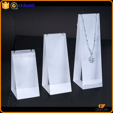 customized clear acrylic unique jewellery stand for necklace