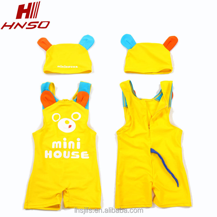 Wholesale children cute one piece bathing suit photo boy cartoon swimwear