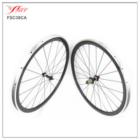 Alluminium brake surface 700C Carbon road bike wheels 38mmx23mm clincher carbon alloy wheel with Novatec hub 18 months warranty