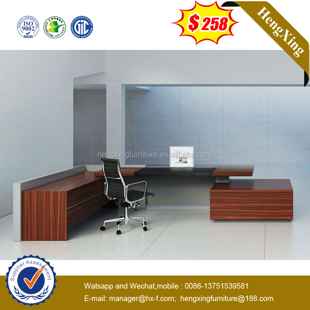 Modern High End Black <strong>Oak</strong> Chocolate Melamine Office Desk Office <strong>Furniture</strong> HX-ND5003.1