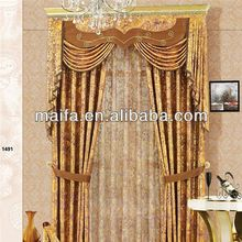 2015 New design luxury printed blackout curtain blackouthotel drapery in shaoxing
