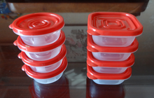 16 PC PLASTIC FOOD CONTAINER SET