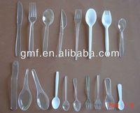 2013 hot sale popular disposable plastic cutlery spoon fork knife set (high quality)