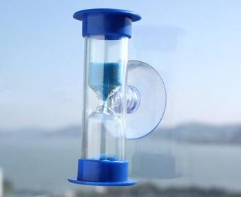 3 Minutes Acrylic Sucker Hourglass Cooking Sand Timer