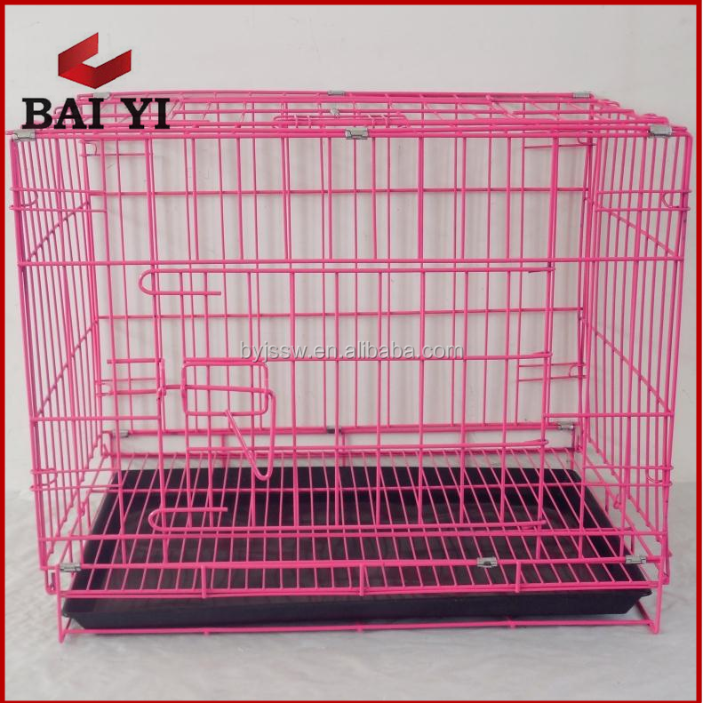 Collapsible Metal Dog Crate Puppy Cage With Dividers